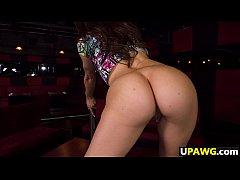 Juicy ass Miss Rican twerks on the stripper pole
