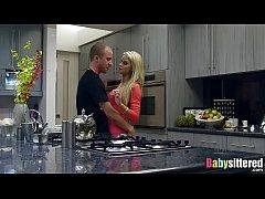Gorgeous blonde babysitter Jessa...