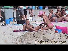Teens lesbians public kissing...