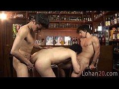 Lohan serves his mates...