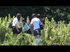 Japanese teen skanks pee...