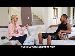 TeensLoveBlackCocks - Blonde Chick Gets Plunder...