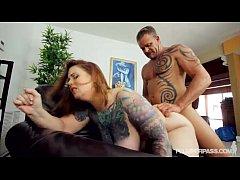 Sexy Tattooed BBW MILF Gets Her Stockinged Feet...