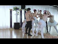 Teen oil dildo ride Ballerinas