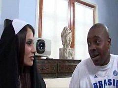 Sheila Marie BIg Tits Nun Fucks A Big Black Dick