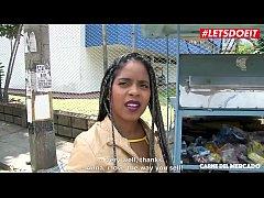 LETSDOEIT - Ebony Latina Picked Up at The Market To Get Fucked