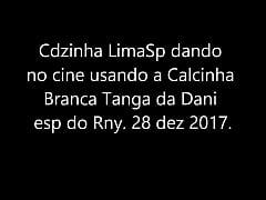 IMG 7377 Dando no cine com a calc tanga branca da Dani esp do Rni 2017