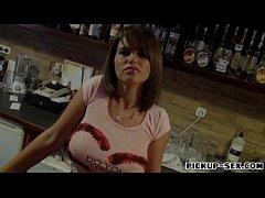 Massive boobs waitress Chintia Doll screwed up ...