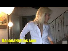 Adela plays with two guys at her 1st CASTING