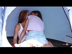 Camping Babes, Kissing Babes!