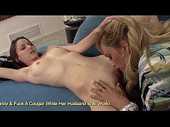Horny Cougar Claudia Valentine Sticks Her Finge...