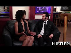 Ebony femme fatale Misty Stone fed cum after ro...