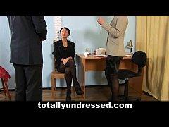 Shocking nude job interview...