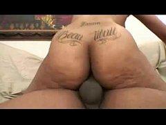 Hot ebony babe with...