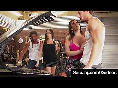 Famous PAWG Sara Jay & Dava Fox Share 2 Lucky H...