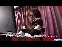 Cute Rino Mizusawa enjoys her new toy inside th...