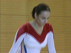 Corina - Topless Gymnastics