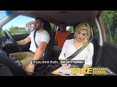 Fake Driving School Sexy busty posh blonde exam...