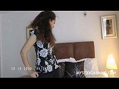 Indian Hottie Jasmine Stripping Show From Her Bedroom