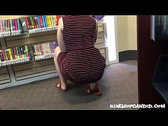 Candid - Foxy Library Pawg Teasing me with her Fat ass