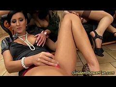 Lesbos rub pissing orgy