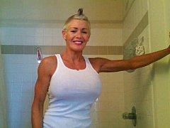 mistress debbie in white tank top