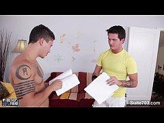 Tattoed gays screwing their...