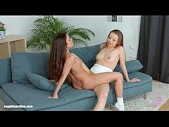 Anita Bellini and Olivia Grace in lesbian scene by Sapphic Erotica