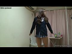 Naked Japanese Madoka wears a Miniskirt School ...