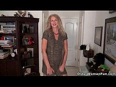 American milf Lauren Demille flaunts her tanned...
