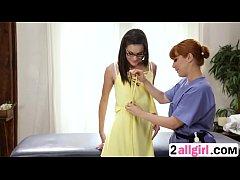 Eden gets asshole fingered by masseuse Penny