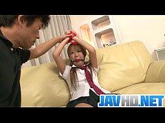 Karen Yuuki gets fucked in raw Asian bondage porn show