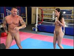 Diana Stewart vs. Zsolt - nde erotic mixed wres...