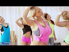 Fitness Rooms Big boobs lesbians have rampant g...