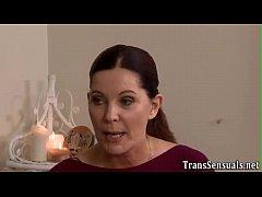 Trans masseuse cum sprays