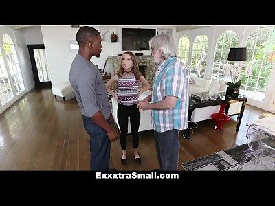 porno video por ExxxtraSmall - Small Blonde Teen Fucks Huge Cock