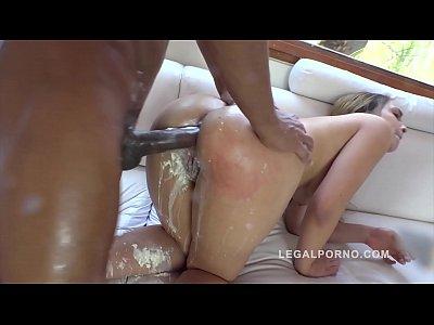 Interracial Threesome Makes Briana Bounce Cream Fart During XXXtreme DAP