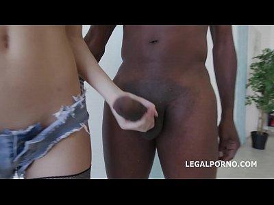 sexy Schlampe Ingwer Fuchs bekommt non stop Gaffen und 100% Bälle tief interracial anal Sperma schlucken, harten Sex, porno, schwarzer Porno, Interracial Pornos