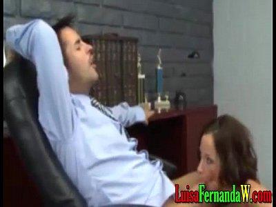 Secretaria hermosa tetona y sabroso culo me la d en mi oficina morrita cachonda caliente penetra