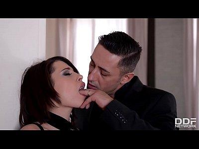 Dominant Gentlemen spank, choke & double penetrate babe Nikita Bellucci