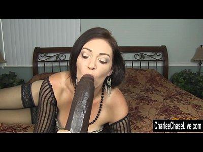 Horny Big Tit MILF Charlee Chase Stuffs Pussy With Big Black Dildo
