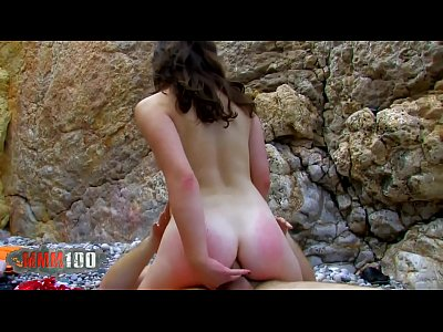 Hot french pornstar Tiffany Doll anal sex at the beach