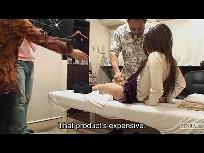 Uncensored bizarre Japanese pubic shaving salon Subtitled