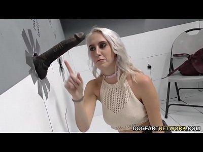 Gloryhole Slut Cadence Lux Sucks Black Cock