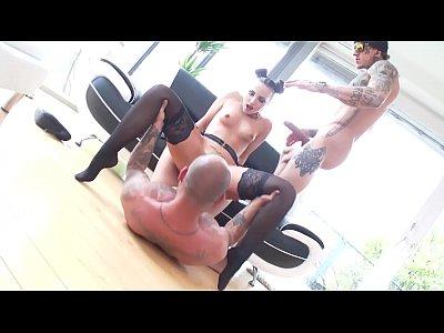 Curvy Ass Kristy Black gets the AngeloSinn treatment with 2on1 DAP