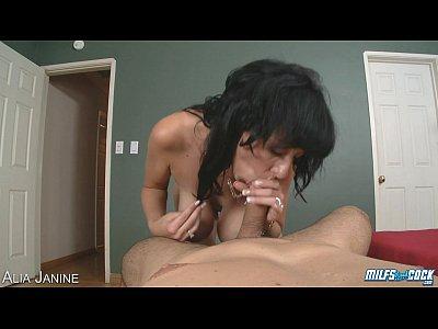 Busty milf Alia Janine fucking