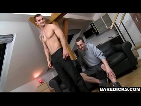 Horny guys in tats sucking
