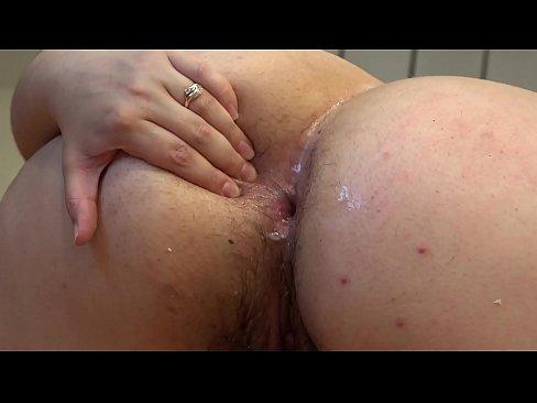 Black bbw cucumber anal play