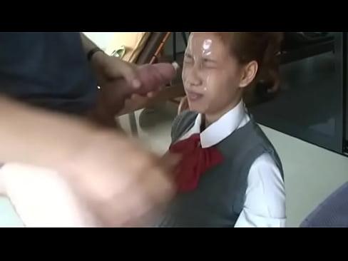masturbation cum on face