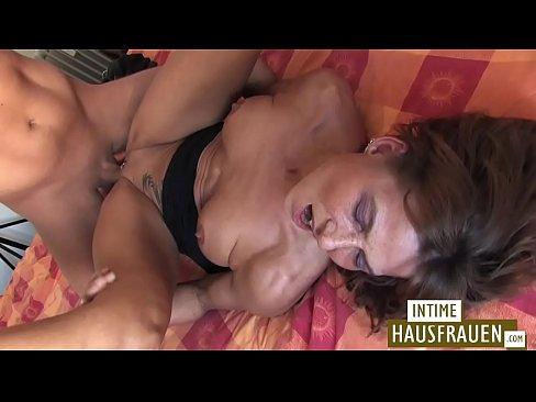Brunette Milf gets a cock